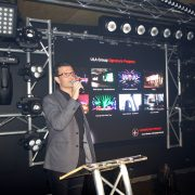 ULA Group Showroom Opening Event Lighting Display Con Presenting