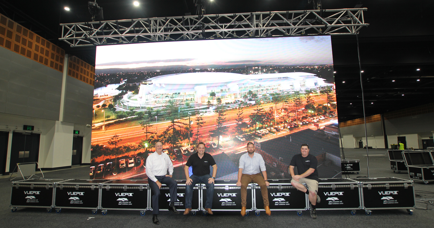 Gold Coast Convention and Exhibiton Centre LED Big Screen and production crew