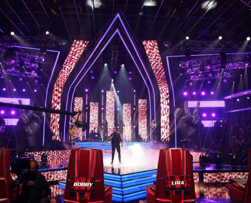 The Voice South Africa TV Show Set Design Custom LED Screens and Light Show