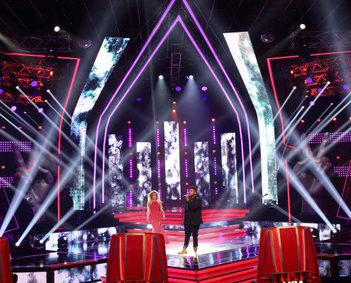 The Voice South Africa TV Show Set Design Custom LED Screens and Light Show