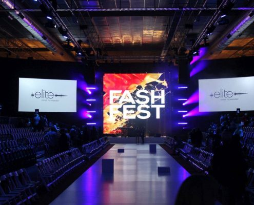 FashFest Runway Stage Event Lighting and LED Screens
