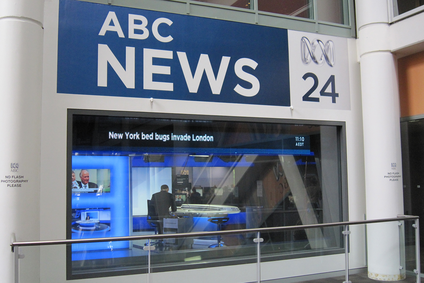 ABC News 24 Studio LED Screens and Studio Lighting