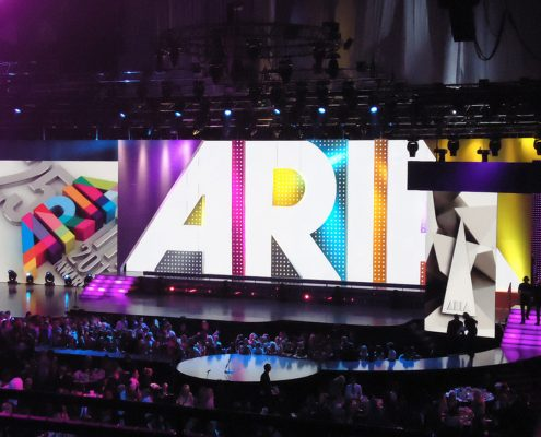 Aria Awards Stage Lighting Design LED Screens Digital Display