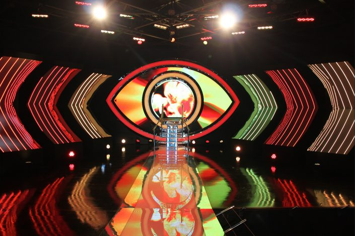 Big Brother TV Studio Set Lighting and Custom LED Screens