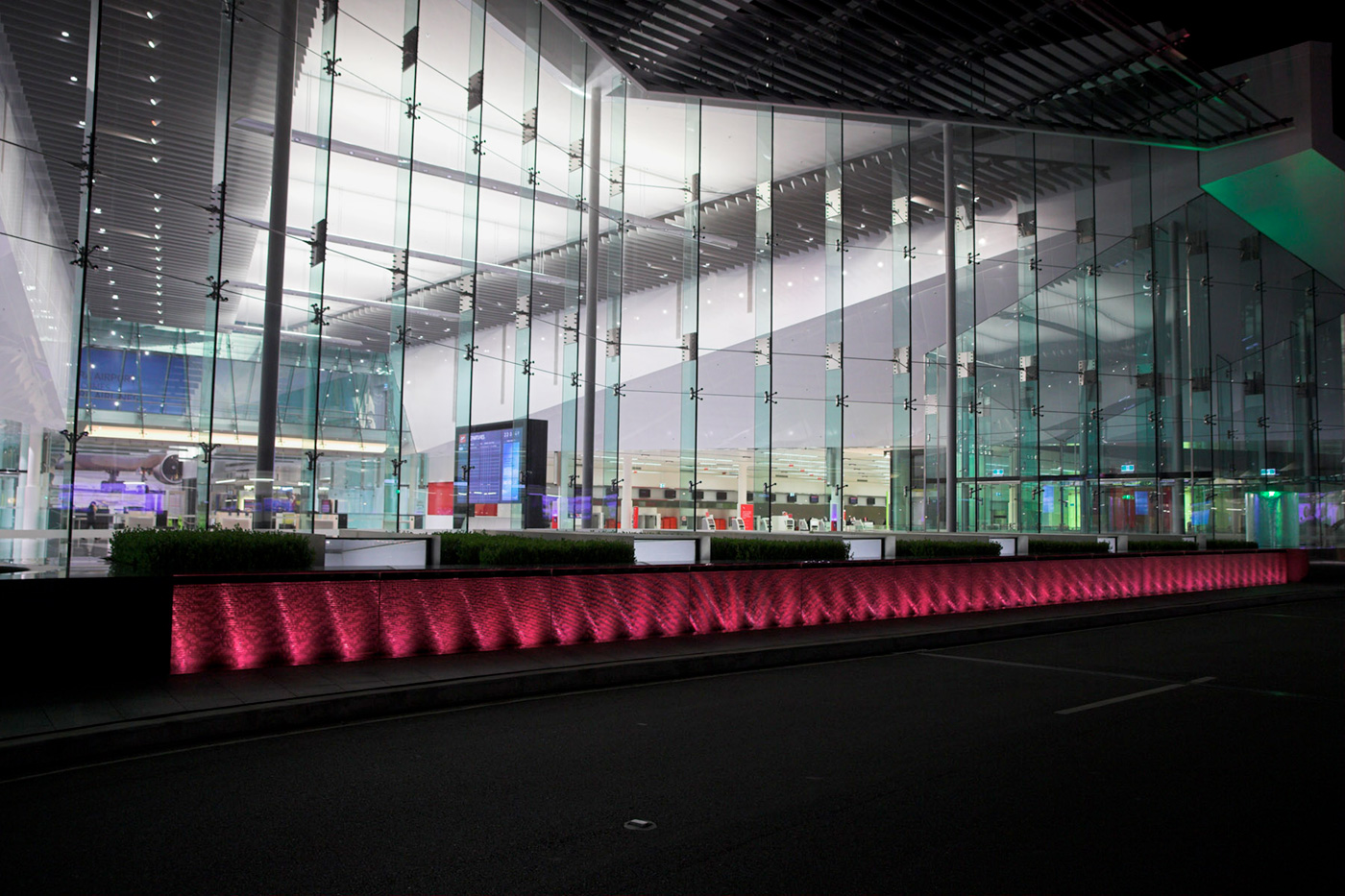 Canberra Airport Water Feature LED Lighting and Building Facade Lighting