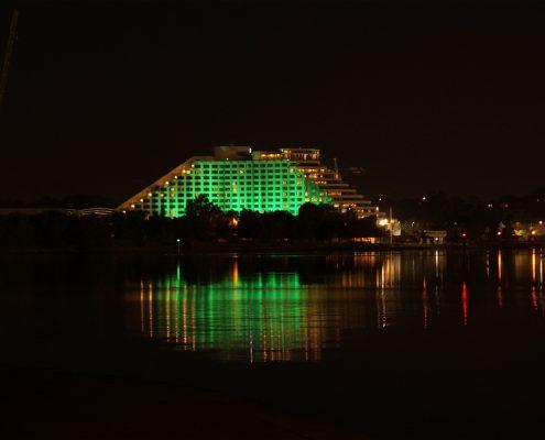 Crown Casino Outdoor LED Facade Building Lighting
