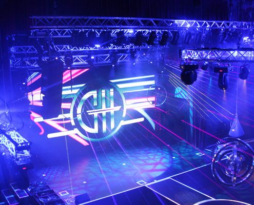 GH Hotel Theatre Lighting LED Spot Light Show LED Screen