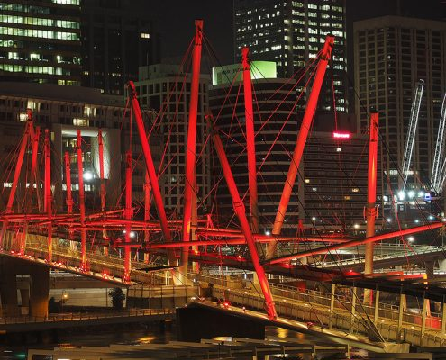 Kurilpa Bridge Brisbane Outdoor LED Architectural Lighting