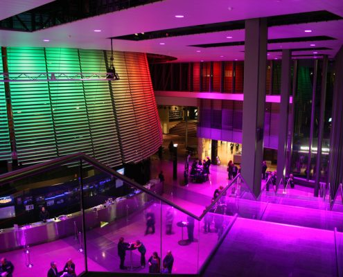 National Institute of Dramatic Arts Colour Changing Event Lighting