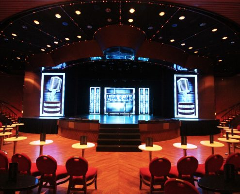 P&O Pacific Eden Stage Lighting Design LED Screen