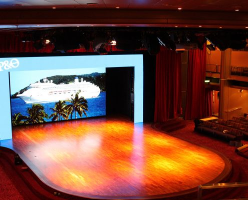 P&O Pacific Jewel Stage Lighting Design LED Screen