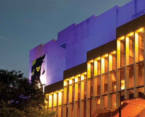 QPAC Brisbane Facade Building Lighting Smart Illumination