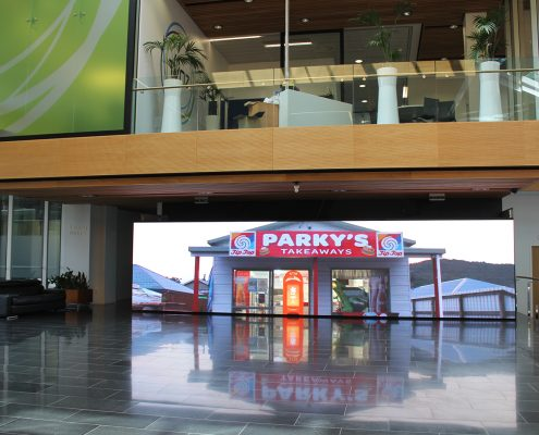Spark HQ Foyer LED Video Wall Billboard Advertising