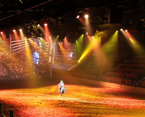 The Australian Outback Spectacular LED Spot Light Show Theatre Lighting and LED Screen