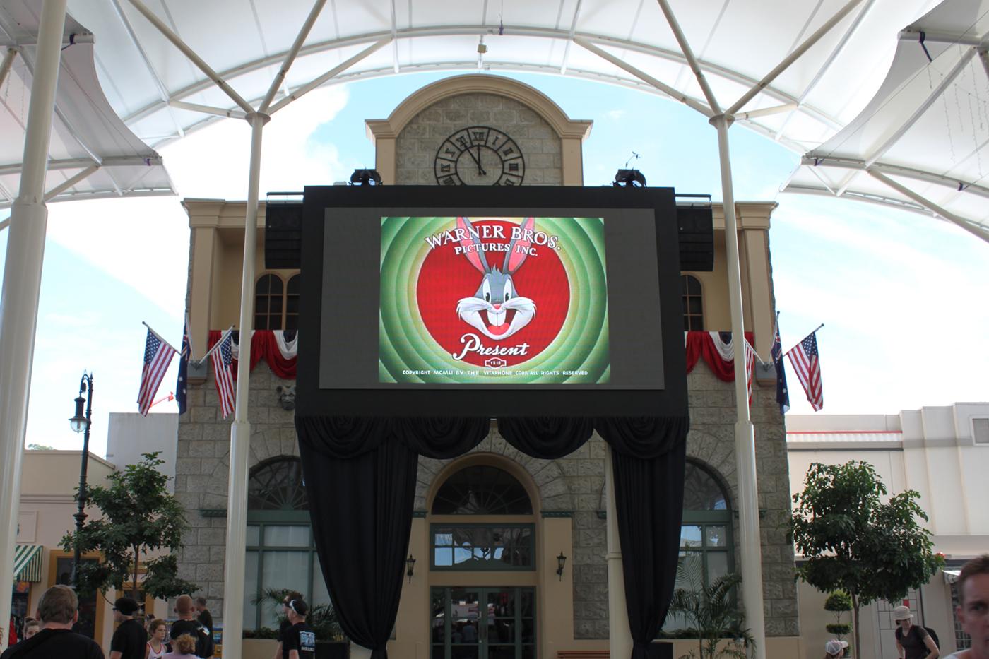 Movie World Gold Coast Outdoor Big Screen LED Billboard Digital Advertising