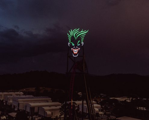 The Joker DC Rivals HyperCoaster Warner Bros Movie World Gold Coast Custom LED Signage