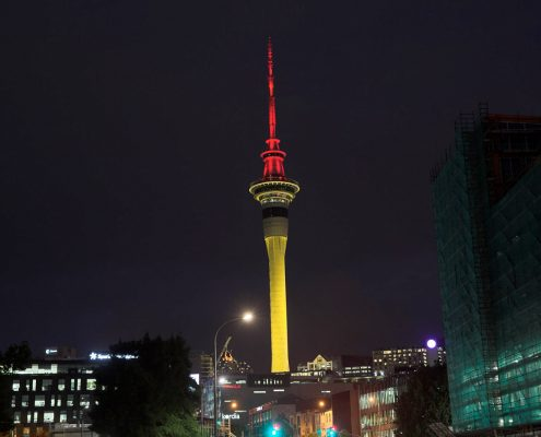 Sky Tower Building Facade Outdoor LED Architectural Lighting