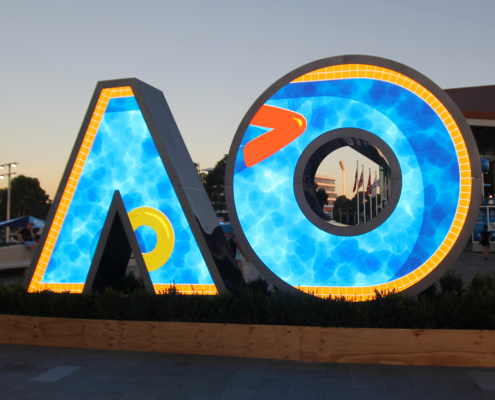 Australian Open Tennis Outdoor LED Screen Artwork Signage