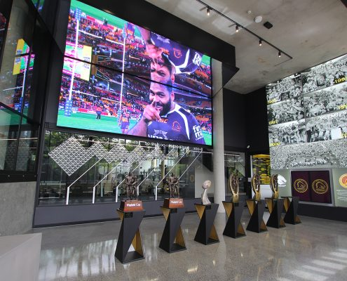 Brisbane Broncos Leagues Club LED Scoreboard and Trophy LED Spot Lights