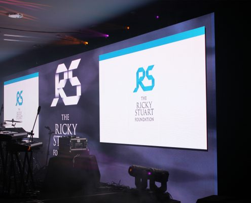 The Ricky Stuart Foundation Function Stage Lighting Design LED Screens and Event Lighting