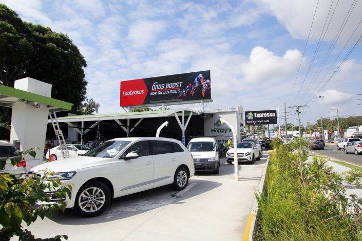 Hoppys Car Wash LED Billboard Southport Gold Coast