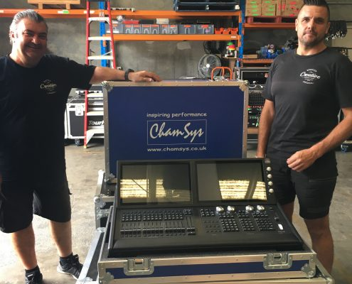 Chamsys Lighting Desk and Creative Production Team
