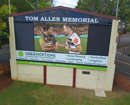 Toowoombah Tom Allen Memorial Oval Outdoor LED Scoreboard