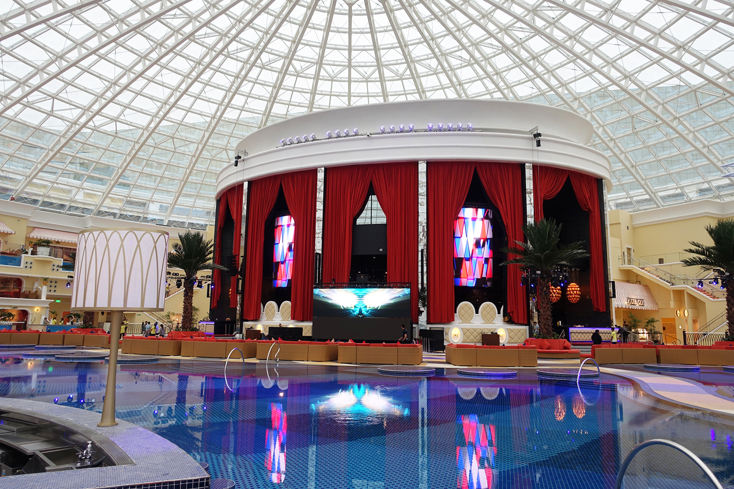 OKada Luxury Pool LED Screens and Indoor LED Lighting