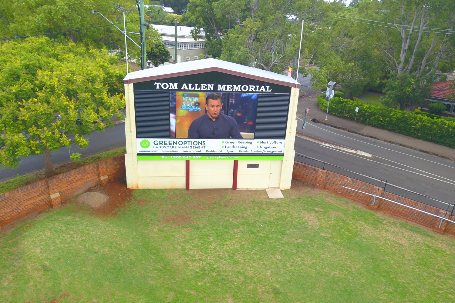 Toowoombah Tom Allen Memorial Oval Outdoor LED Scoreboard