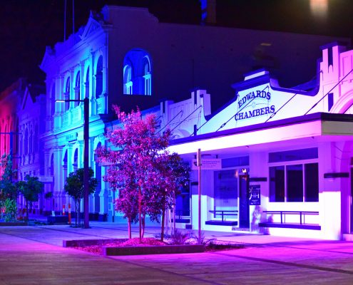 Rockhamptom Riverside Precinct comes to life with Griven LED Building Facade Lighting
